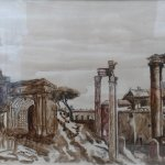 Rom (2007, 70 x 100 cm, Touche auf Pappe)
