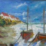 Normandie (2018, 50 x 70 cm, Öl auf Leinwand)