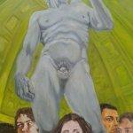 Bei Michelangelo (2015, 110 x 140 cm, Öl auf Leinwand)