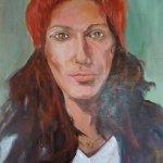Porträt (2014, 40 x 45 cm, Öl auf Leinwand)