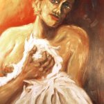 Überrascht (1997, 70 x 100 cm)