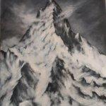 Berggipfel (2015, 110 x 130 cm, Öl auf Leinwand)
