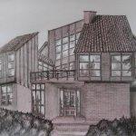 Haus am Berg (2011, 70 x 100 cm)